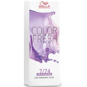 Wella Color Fresh Medium Brunette Red Blonde 7/74 75ml