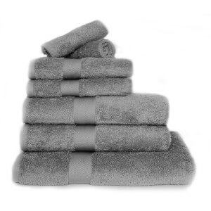 Restmor 100% Egyptian Cotton 7 Piece Luxury Towel Bale (600GSM) - Charcoal