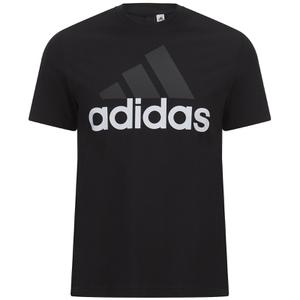 adidas Men's Essential Big Logo T-Shirt - Black