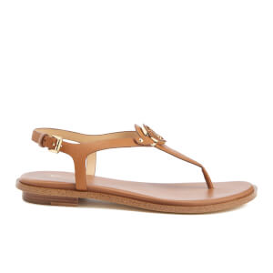MICHAEL MICHAEL KORS Women's Lee Logo Front Toe Post Sandals - Acorn