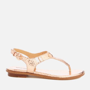 MICHAEL MICHAEL KORS Women's MK Plate Toe Post Sandals - Rose Gold