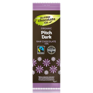 The Raw Chocolate Company Organic Pitch Dark Bar - 44g (Pack of 12)