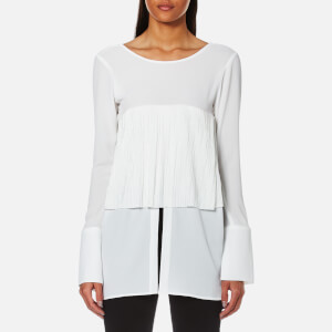House of Sunny Women's V-Neck Blouse - Ivory