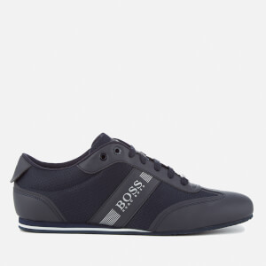 BOSS Green Men's Lighter Mesh Trainers - Dark Blue