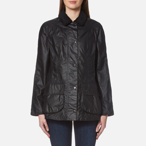 Barbour Women's Beadnell Wax Jacket - Navy: Image 1