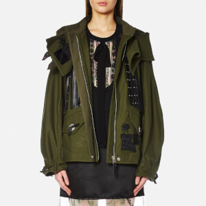 Coach Women's Western Military Jacket - Green