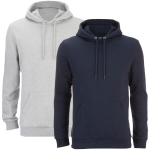 2 Sweats Hommes à Capuche Rooski Smith & Jones - Gris/Bleu Marine