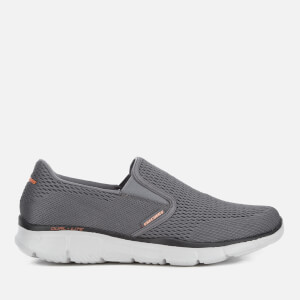 Baskets Homme Equalizer Double-Play Skechers - Gris Charbon/Orange