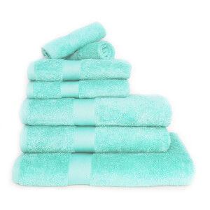 Restmor 100% Egyptian Cotton 7 Piece Luxury Towel Bale (600GSM) - Seafoam