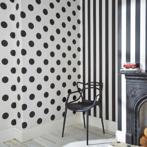 Superfresco Easy Kids' Dotty Spot Print Black/White Wallpaper