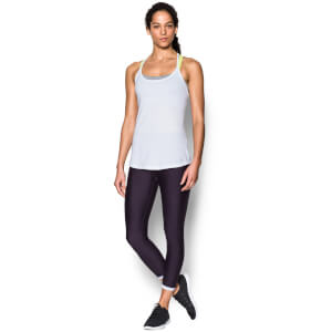 Under Armour Women's Fly By Racerback Run Tank - White
