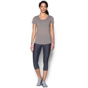 Under Armour Women's Streaker Run T-Shirt - True Grey Heather/Playful Peach