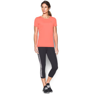Under Armour Women's HeatGear Armour T-Shirt - London Orange