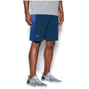 Under Armour Men's Supervent Shorts - Blackout Navy/Purple Chic