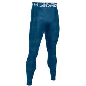 Under Armour Men's HeatGear Armour Printed Compression Tights - Blackout Navy
