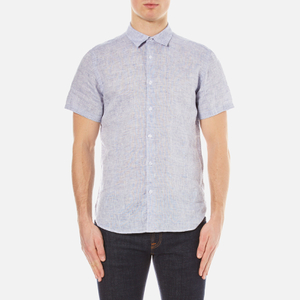 Orlebar Brown Men's Meden Short Sleeve Shirt - Navy