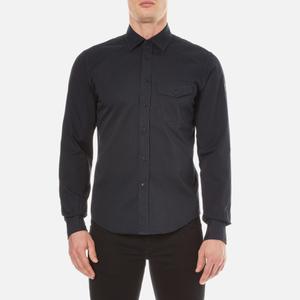 Belstaff Men's Steadway Long Sleeve Shirt - Navy Blue