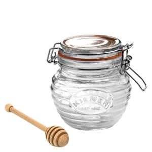 Kilner Clip Top Round Honey Pot with Dipper 0.4L