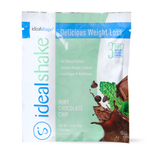 IdealShake Mint Chocolate Chip Sample