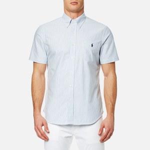 Polo Ralph Lauren Men's Short Sleeve Button Down Shirt - Blue/White