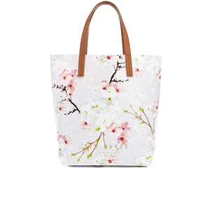 Ted Baker Women's Caitlen Oriental Blossom Large Shopper Bag - Light Grey