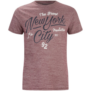 Threadbare Men's Brady New York T-Shirt - Burgundy