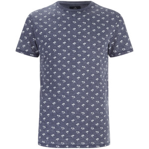 Threadbare Men's Etna Palm Tree Print T-Shirt - Navy