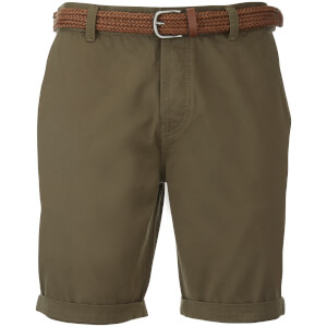 Short Chino à Ceinture Threadbare -Kaki