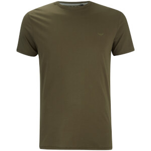 T-Shirt Homme William Col Rond Threadbare -Kaki
