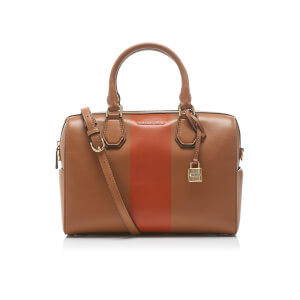 MICHAEL MICHAEL KORS Women's Centre Stripe Mercer Medium Duffle Bag - Acorn/Orange