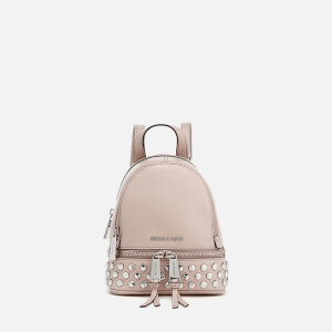 MICHAEL MICHAEL KORS Women's Rhea Zip Studded XS Messenger Backpack - Cement