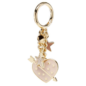 MICHAEL MICHAEL KORS Women's Lucky Charms Heart Key Ring - Soft Pink