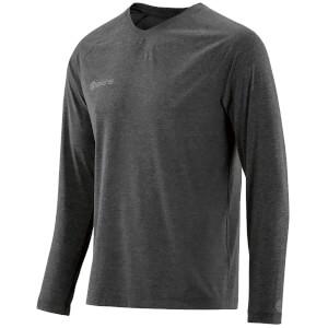 Skins Plus Men's Micron Long Sleeve Top - Black/Marle