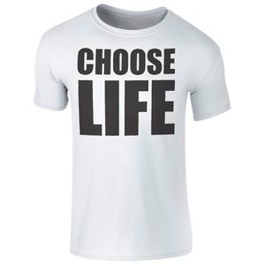 T-Shirt Homme Choose Life -Blanc