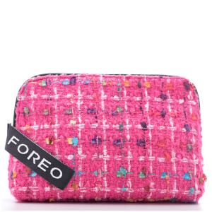 FOREO Tweed Cosmetic Pouch Pink (Worth £30) (Free Gift)