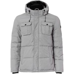 Jack & Jones Men's Core Wills Ultimate Padded Jacket - Light Grey Melange