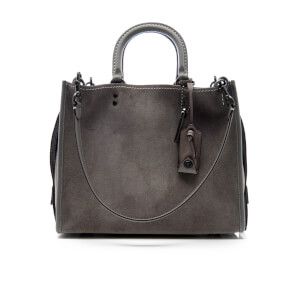 Coach Women's Suede Rogue Shoulder Bag - Heather Grey