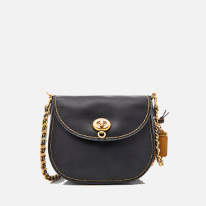Coach Women's Glovetanned Turnlock Saddle Bag - Black