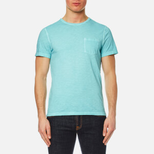 Michael Kors Men's Melange Wash Crew Pocket T-Shirt - Lagoon