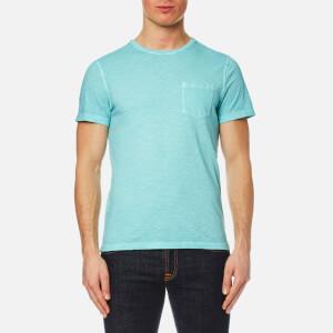 Michael Kors Men's Melange Wash Crew Pocket T-Shirt - Lagoon