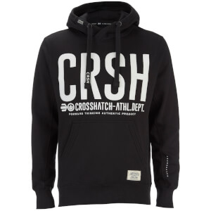 Crosshatch Men's Birchtree Logo Hoody - Jet Black