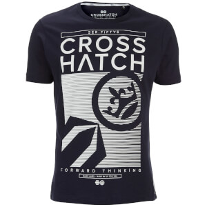 Crosshatch Men's Kilo Textured T-Shirt - Night Sky