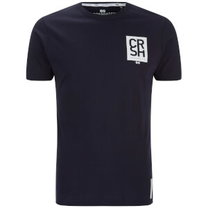 Crosshatch Men's Aileen Logo Front and Back Print T-Shirt - Night Sky
