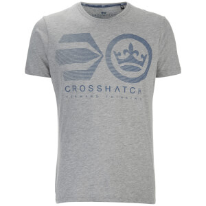Crosshatch Men's Briscoe Logo T-Shirt - Brindle