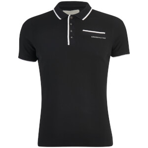 Crosshatch Men's Pinback Arm Logo Polo Shirt - Black