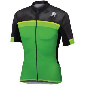 Sportful Pista Short Sleeve Jersey - Green/Black