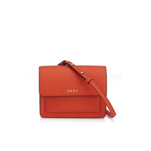 DKNY Women's Bryant Park Mini Flap Cross Body Bag - Orange