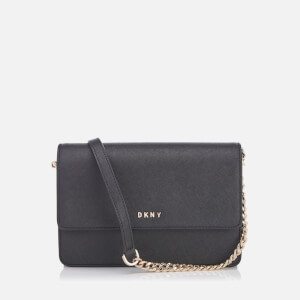 DKNY Women's Bryant Park Small Flap Cross Body Bag - Black