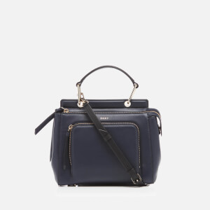 DKNY Women's Greenwich Smooth Small Top Handle Satchel - Classic Navy