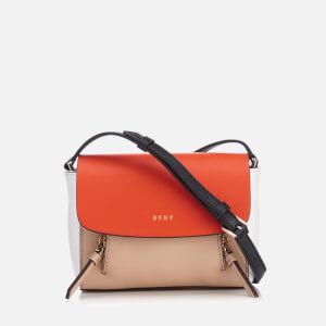 DKNY Women's Greenwich Smooth Mini Messenger Bag - Nude/Orange